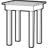 Tête à tête table