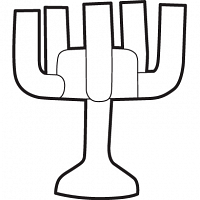 five armed candleholder