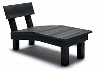 relax chaise lounge black