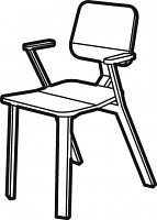 baak chair with arm