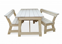 tableset bench with back